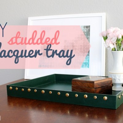 DIY Studded Lacquer Tray
