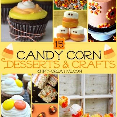 15 Candy Corn Desserts & Crafts