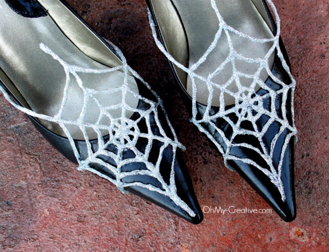 Glitter Spider Web Shoes - Oh My Creative