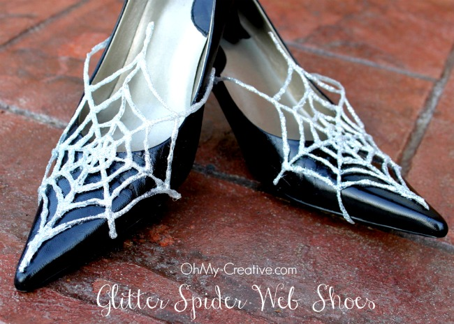 Glitter Spider Web Halloween Shoes 7 - OhMy-Creative.com
