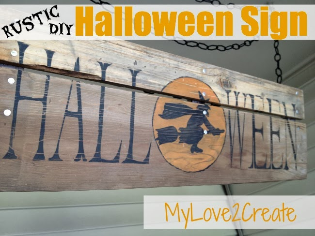 Rustic DIY Halloween Sign
