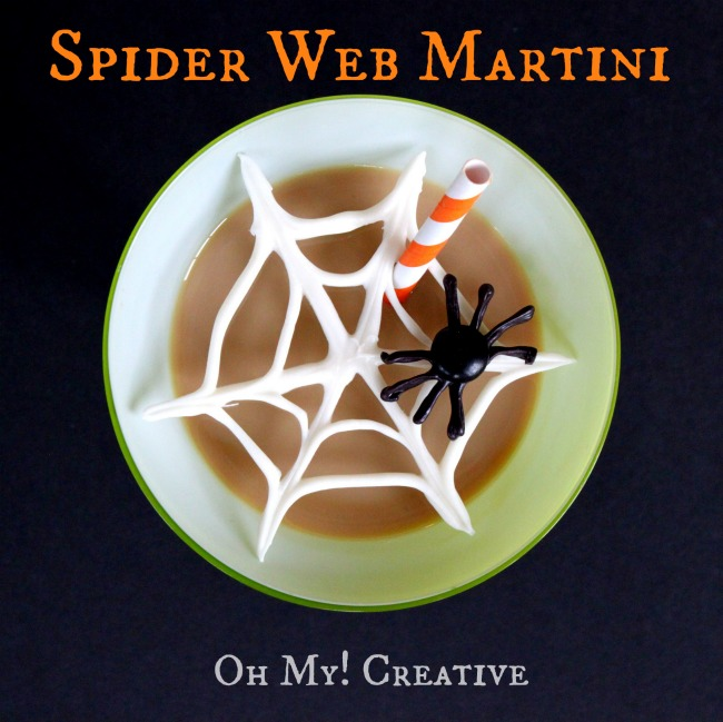 Chocolate Spider Web Halloween Martinis - Oh My Creative