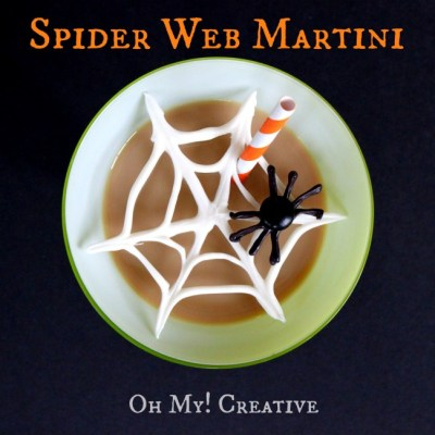 Chocolate Spider Web Halloween Martinis