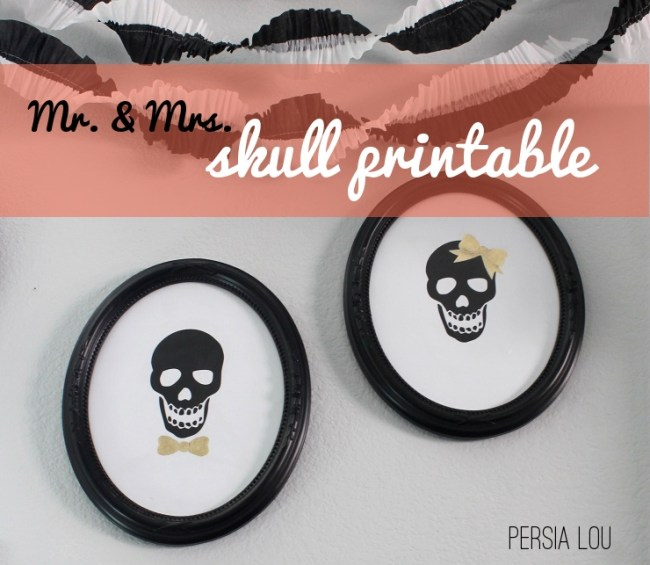 Skull printable art