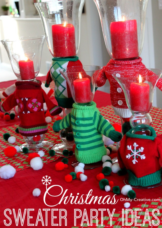 Christmas Sweater Party Ideas  |  OhMy-Creative.com