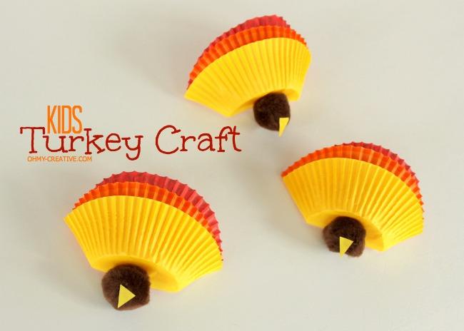 Kids Thanksgiving Turkey Craft