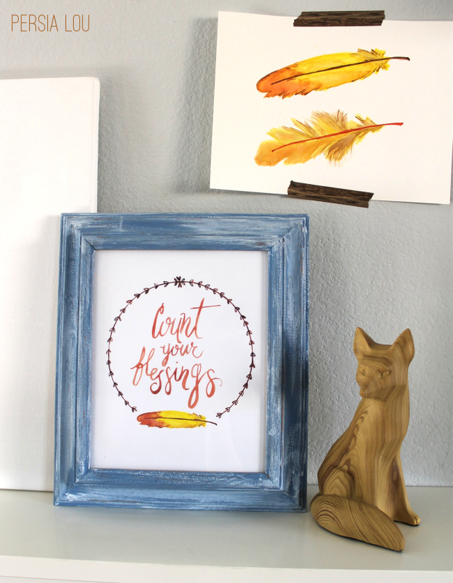 A free count your blessings printable to decorate your home for Thanksgiving!