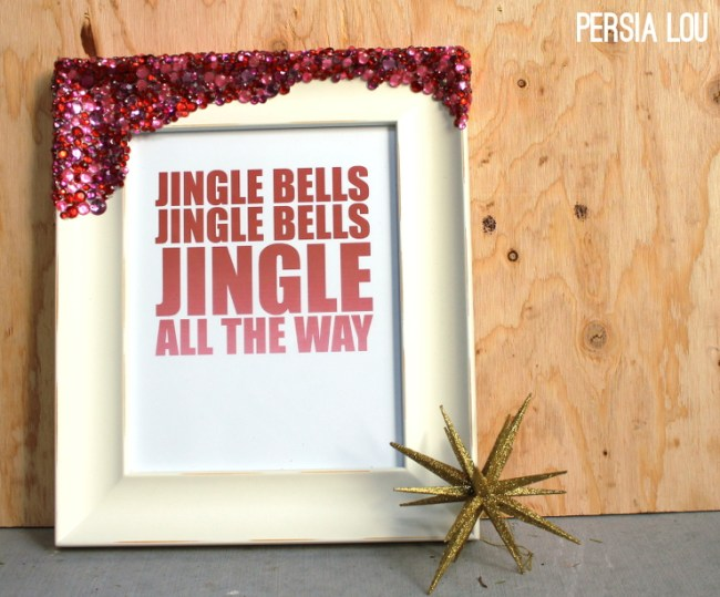 jingle bells picture frame