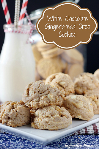 White Chocolate Gingerbread Oreo Cookies