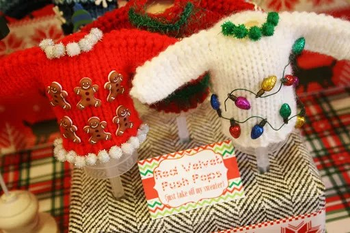 Ugly Christmas Sweater Centerpiece Decorations