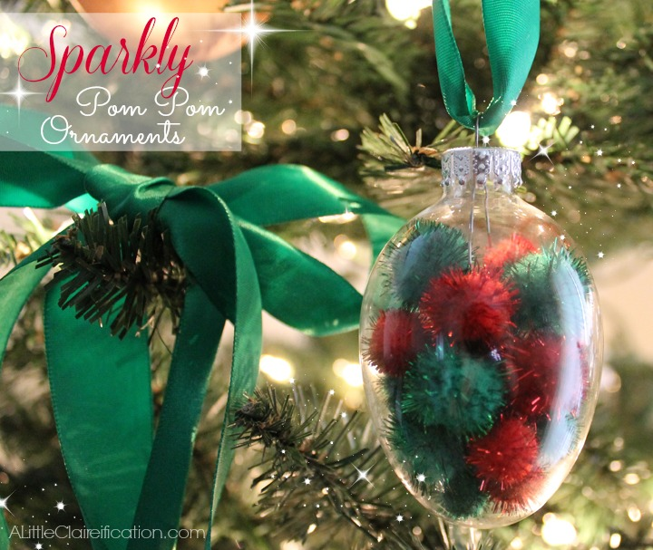 The Pom Pom Ornament Craft That Never Ends: Red Christmas Crafts & Desserts
