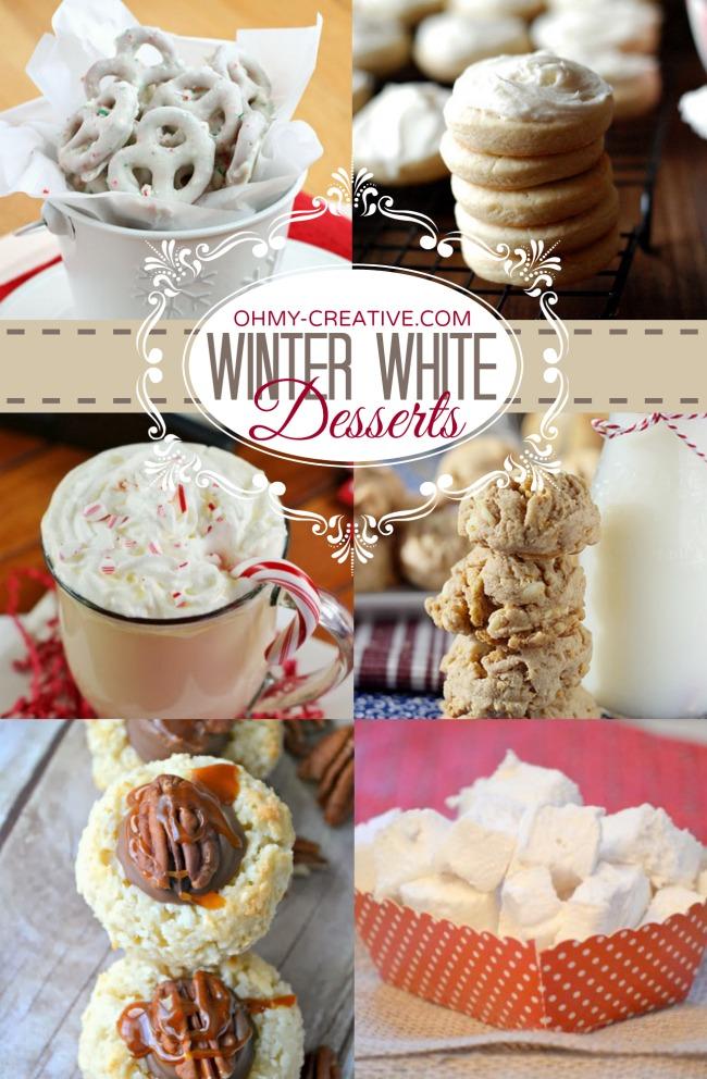 Winter White Desserts  |  OHMY-CREATIVE.COM