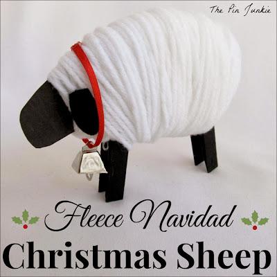 fleece navidad christmas sheep