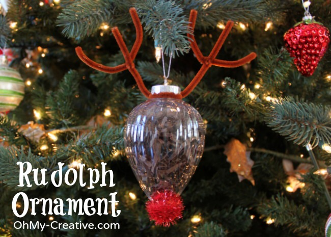 rudolph ornament craft oh my creative