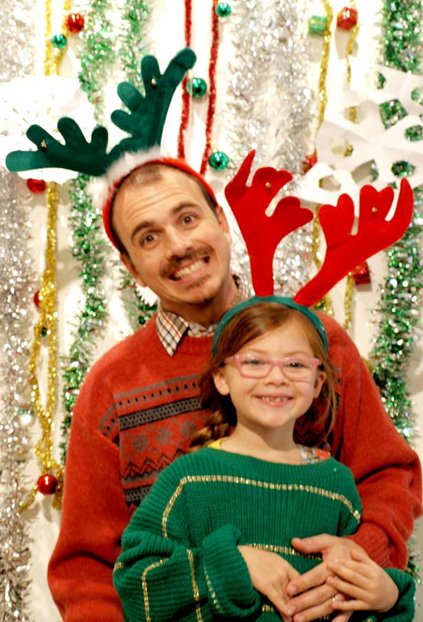 ugly christmas sweater party photobooth