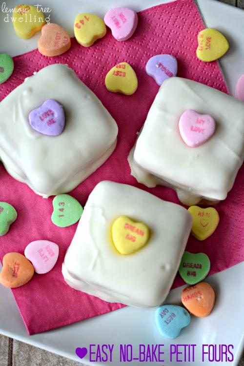 Conversation Heart No Bake Petit Fours