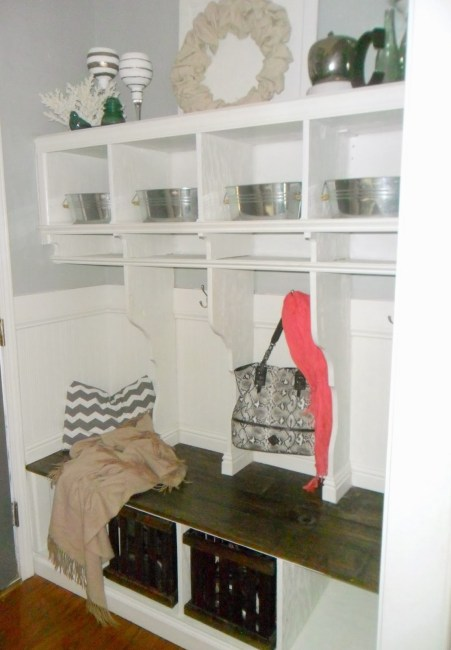 Custom Build Laundry Cubbies