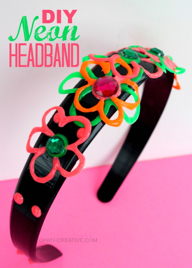 DIY Neon Headband | OHMY-CREATIVE.COM #TulipNeon