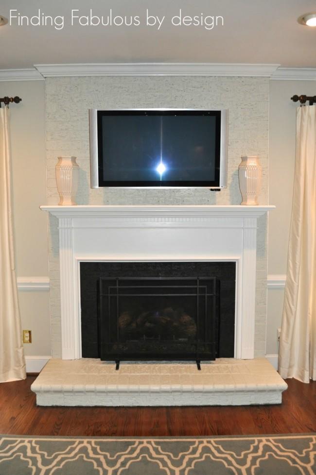 Remodeled Fireplace Mantel