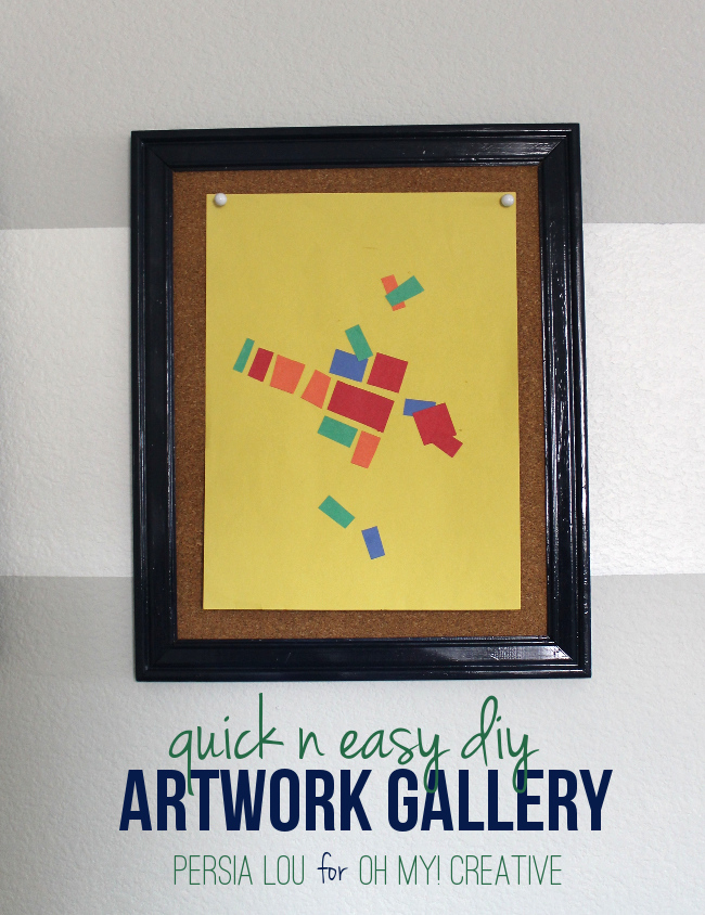 Quick and Easy DIY Kids Artwork Gallery