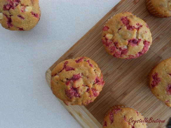 Recipe for Raspberry Nut Muffins with White Chocolate Chips
