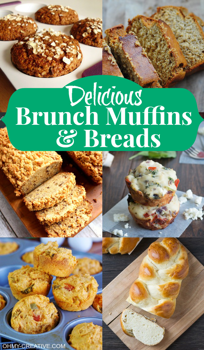 Delicious Brunch Muffins and Breads  |  OHMY-CREATIVE.COM