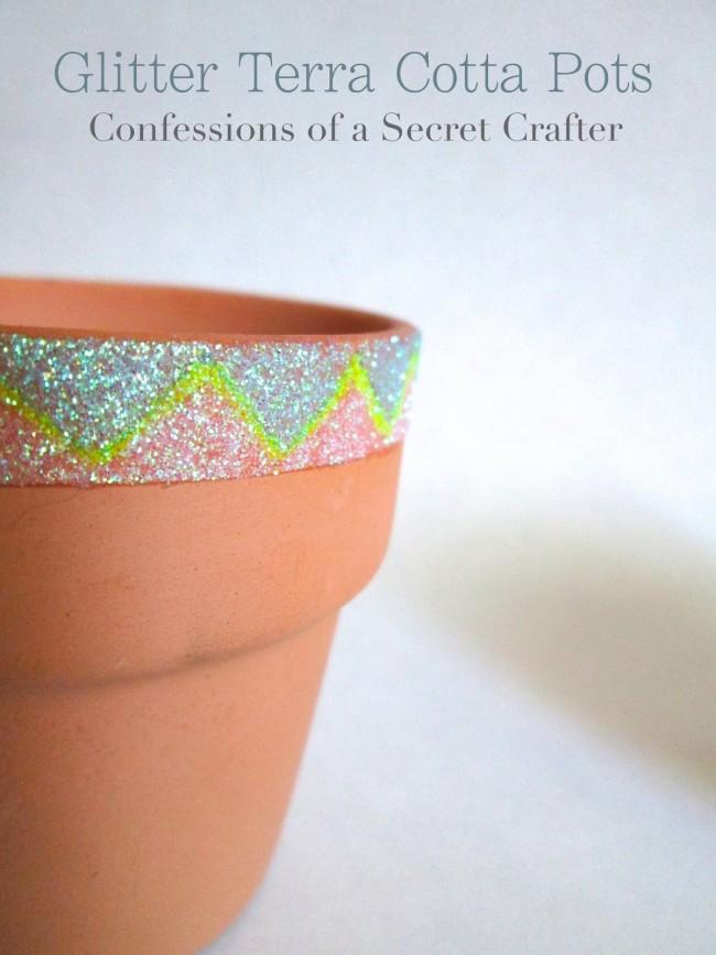 Glitter Terra Cotta Pots
