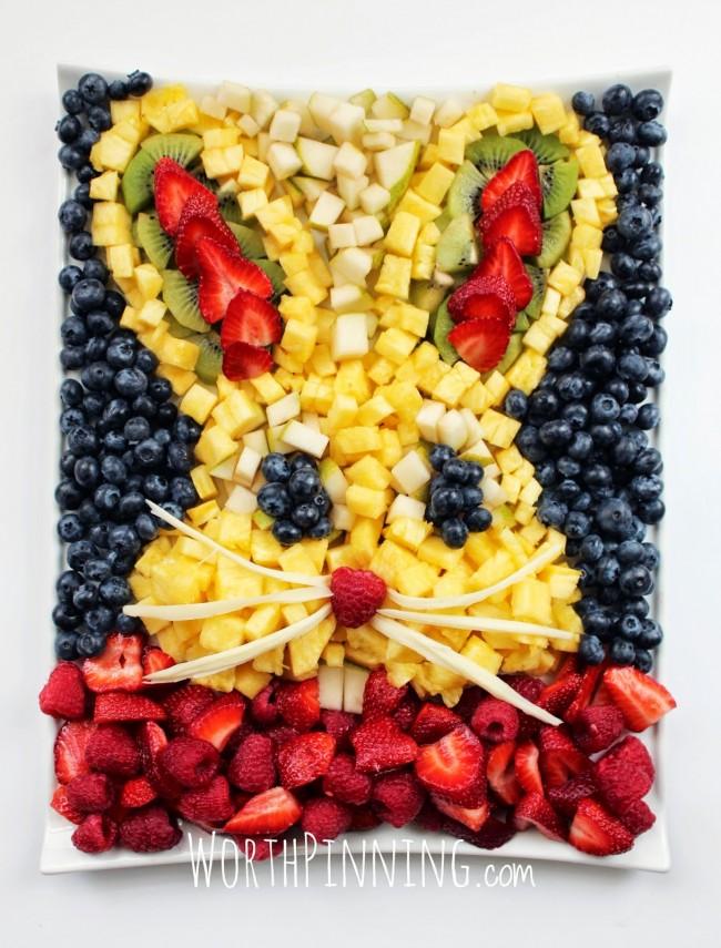 Bunny Fruit Easter Platter