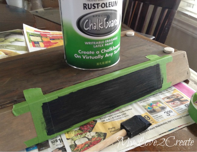 Painting on chalkboard Paint