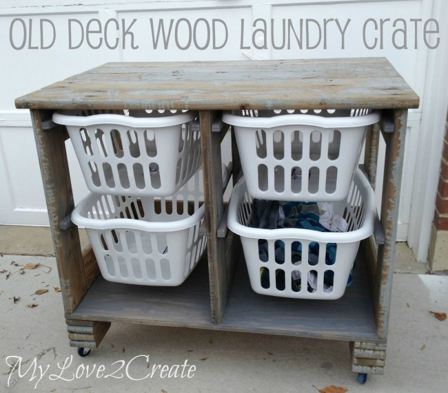 Old Deck Wood Laundry Crate  |  MyLove2Create
