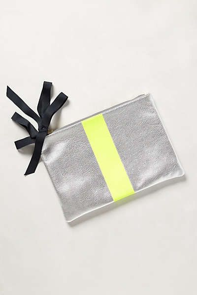 Anthropologie Inspired Striped Leather Pouch  |  Oh My Creative