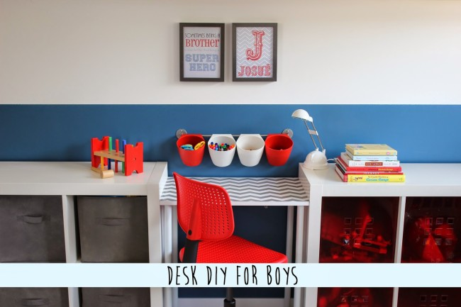 DIY Boys Desk Area