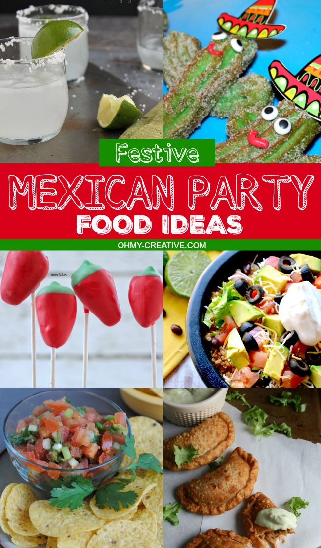 Mexican Party Food Ideas | OHMY-CREATIVE.COM | Mexican Recipes | Mexican Food Ideas Easy | Mexican Menu | Mexican Dinner Recipes #mexicanfood #recipe #cincodemayo