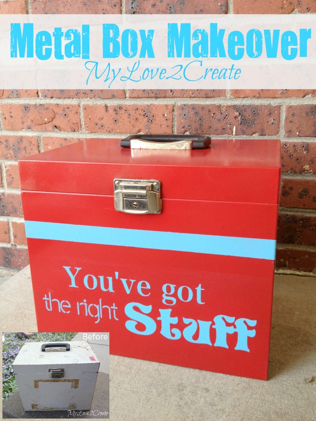 Metal box Makeover