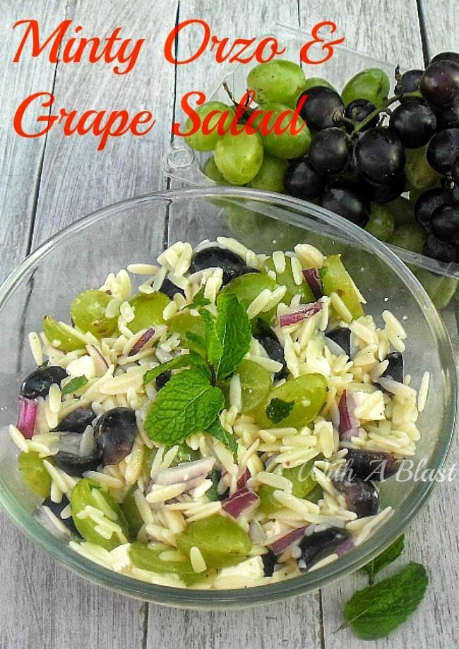 Minty Orzo and Grape Salad
