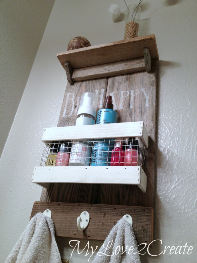 Our Rustic DIY Shelf Tutorial is a great project for a weekend that also updates your bathroom or entryway easily and cheaply!
