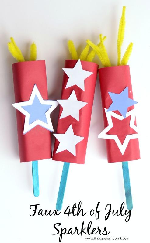 fourth of july sparkler craft