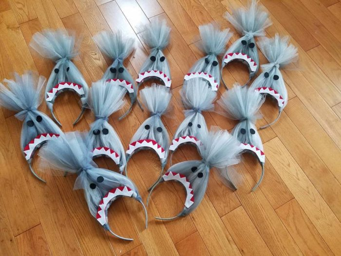 Baby shark hat headbands