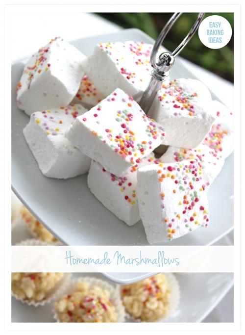 Sprinkle Homemade Marshmellows
