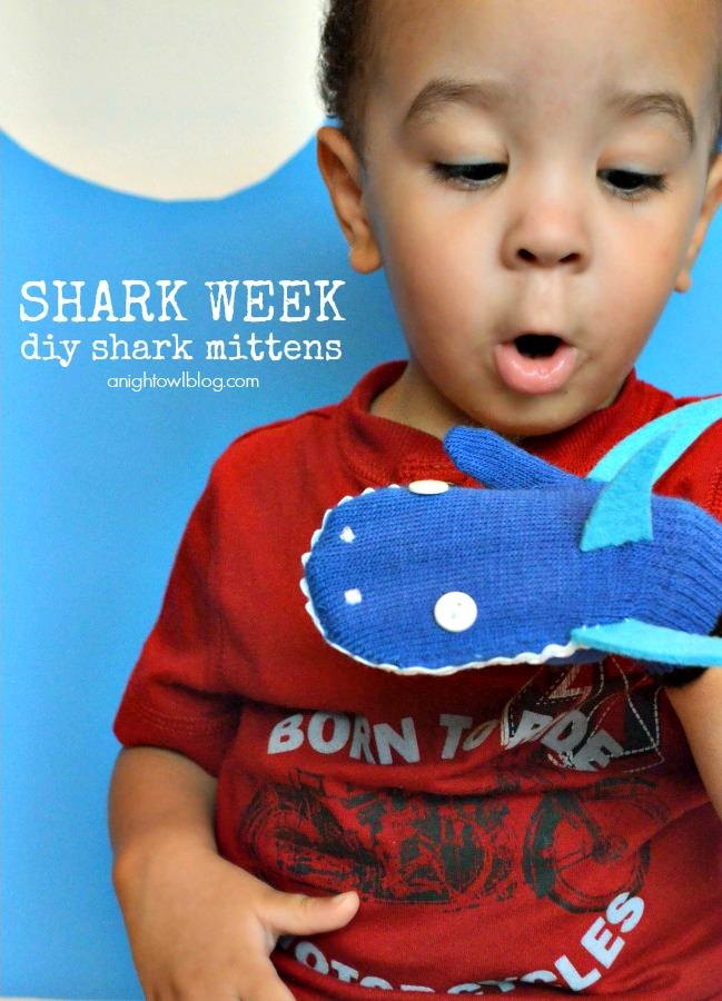 Shark-Week-Mittens