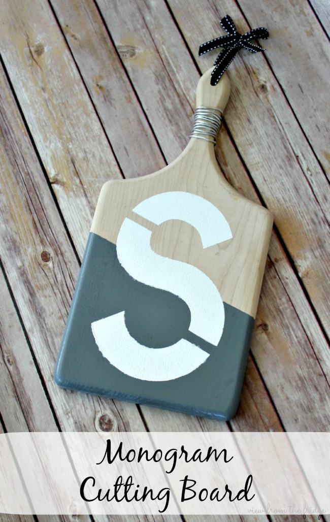 DIY Monogram Cutting Board