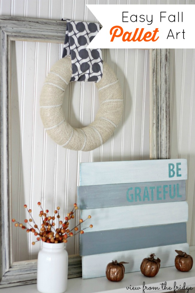 Fall Wood Pallet Art Oh My Creative