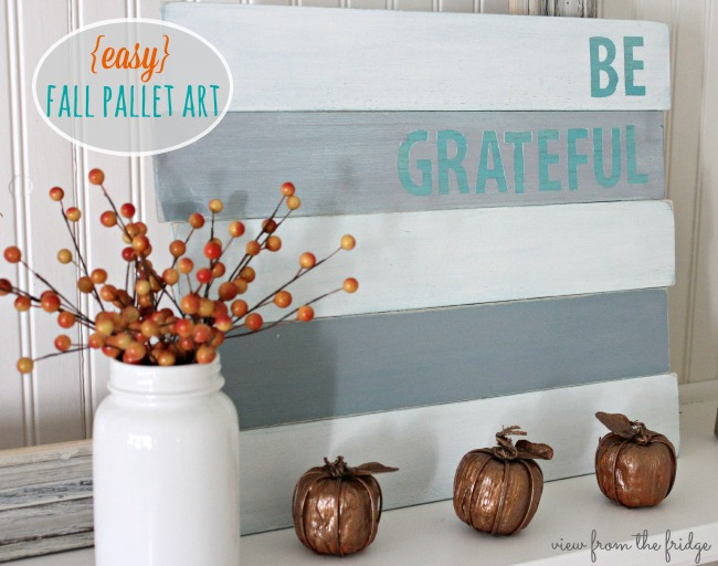 Easy Fall Pallet Art | View From The Fridge