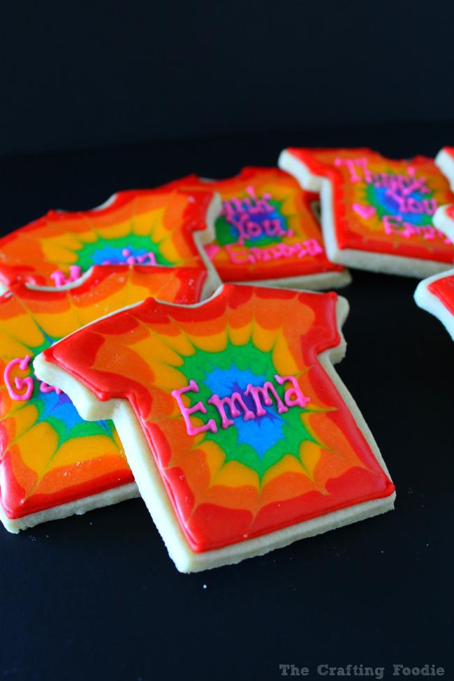 Tie-Dye Sugar Cookie Favors