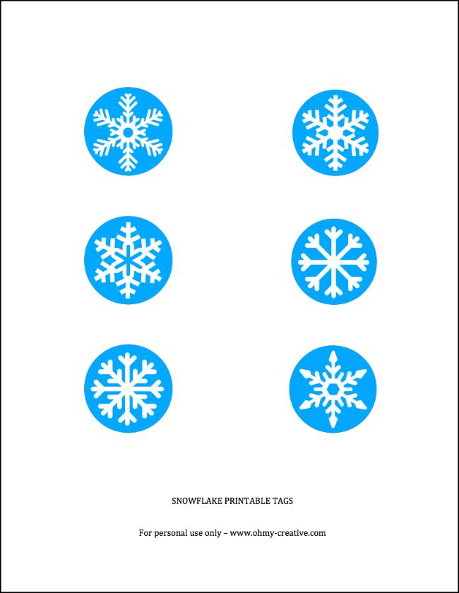 Free Printable Snowflake Tag | OHMY-CREATIVE.COM