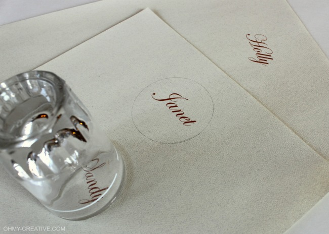 How to print names for place cards | OHMY-CREATIVE.COM