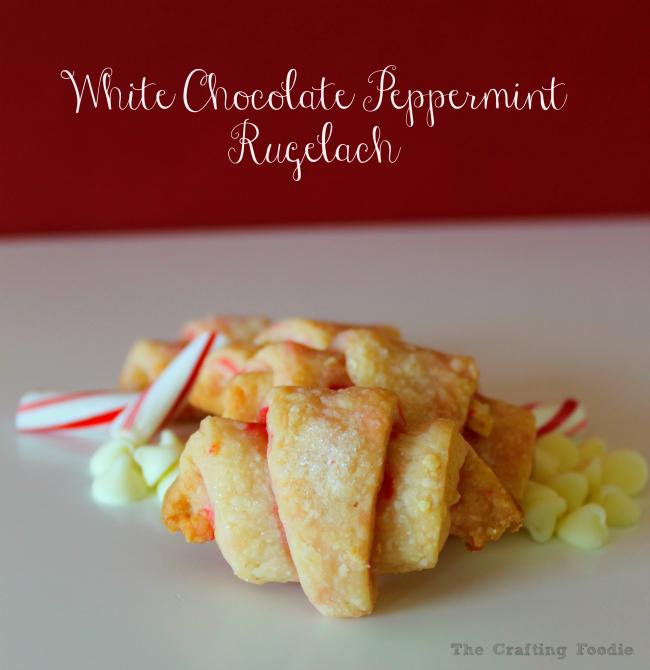 Peppermint White Chocolate Rugelach Recipe OHMY-CREATIVE.COM | Rugelach Recipe | Chocolate Rugelach Recipe | Easy Rugelach Recipe | Best Rugelach Recipe