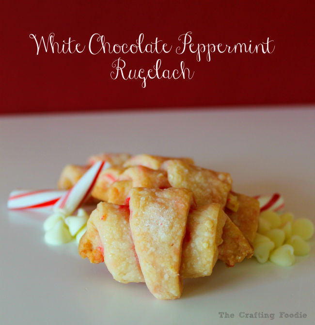 Peppermint White Chocolate Rugelach Recipe OHMY-CREATIVE.COM | Rugelach Recipe | Chocolate Rugelach Recipe | Easy Rugelach Recipe | Best Rugelach Recipe