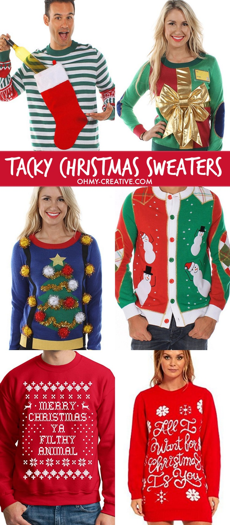 best tacky ugly christmas sweaters ohmy creative com - The Best Ugly Christmas Sweaters