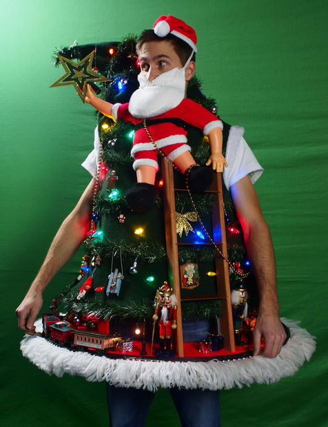 Christmas Tree Ugly Sweater Diy.15 Do It Yourself Ugly Christmas Sweaters Oh My Creative
